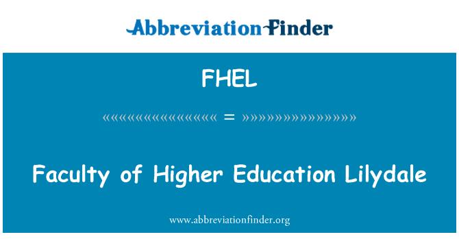 FHEL: Faculty of Higher Education Lilydale