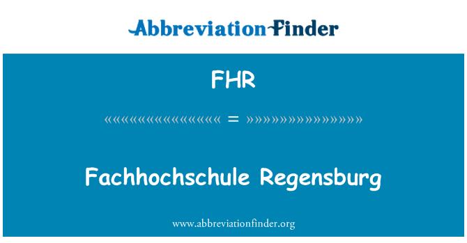FHR: Fachhochschule Regensburg