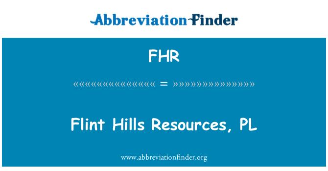 FHR: Flint Hills recursos, PL