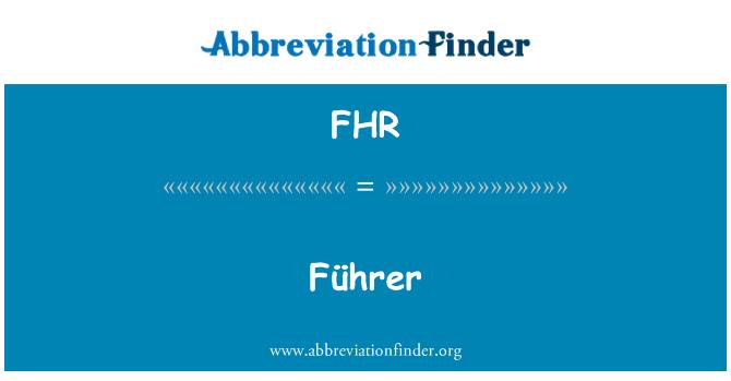 FHR: Führer