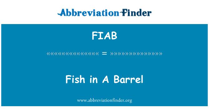 FIAB: Peces en un barril