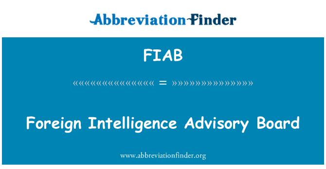 FIAB: Consejo Asesor de inteligencia extranjera