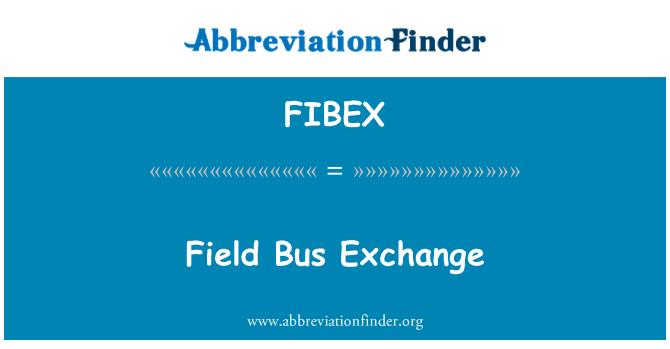 FIBEX: Field Bus Exchange