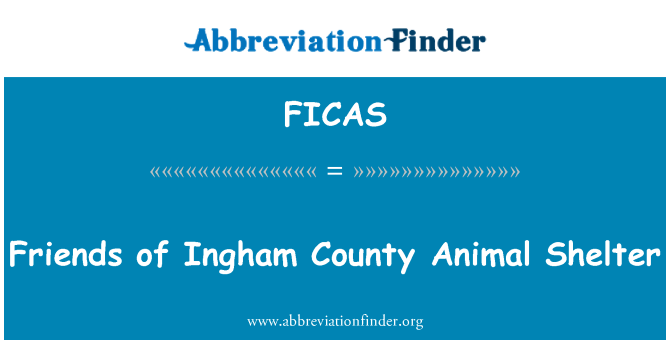 FICAS: Friends of Ingham County Animal Shelter
