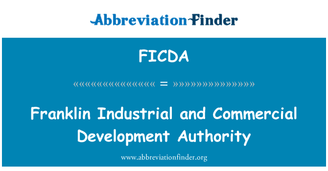 FICDA: Franklin Industrial and Commercial Development Authority