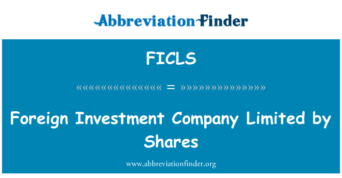 FICLS: Foreign Investment Company Limited by Shares