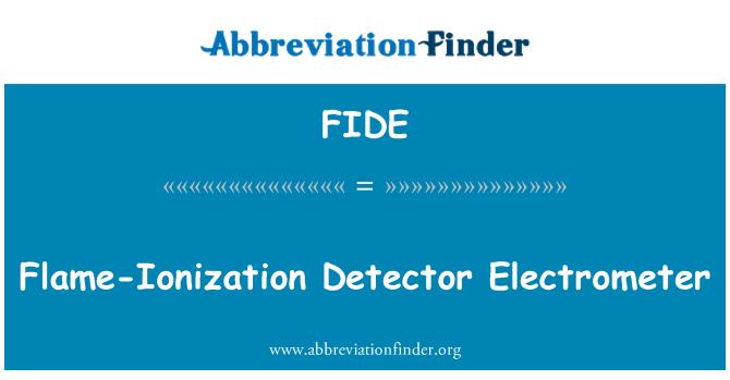 FIDE: Flame-Ionization Detector Electrometer