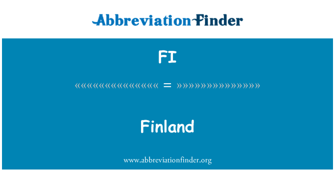 FI: Finland