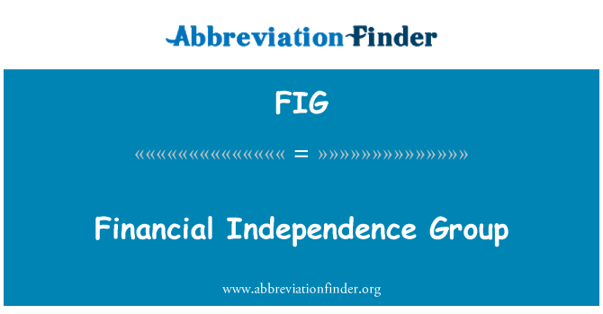 FIG: Financial Independence Group