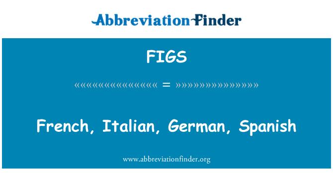 FIGS: French, Italian, German, Spanish