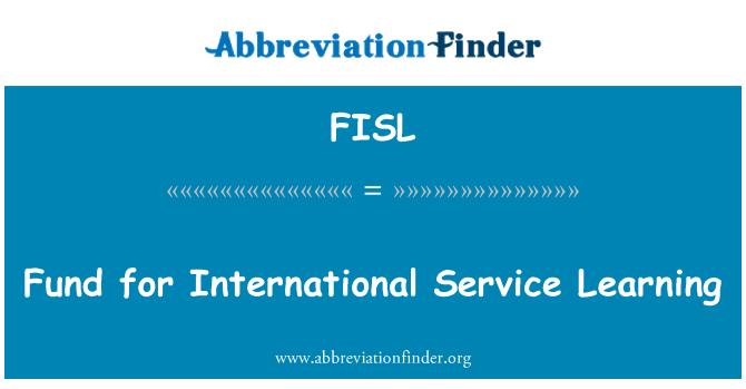 FISL: Uluslararası hizmet öğrenme için fon
