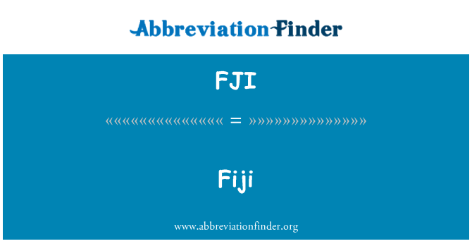 FJI: 斐济