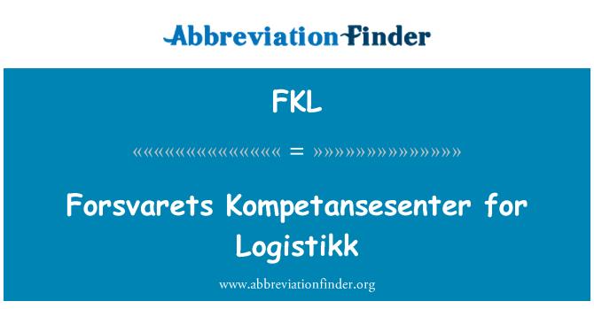 FKL: Forsvarets Kompetansesenter for Logistikk