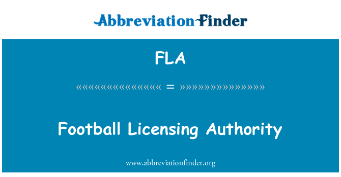FLA: Football Licensing Authority