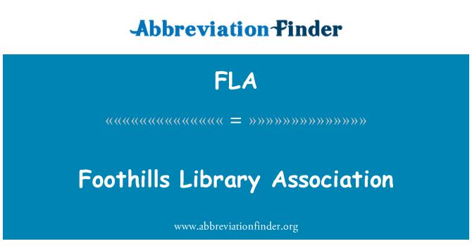 FLA: Foothills Library Association
