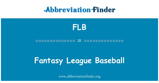 FLB: Fantasy League Baseball