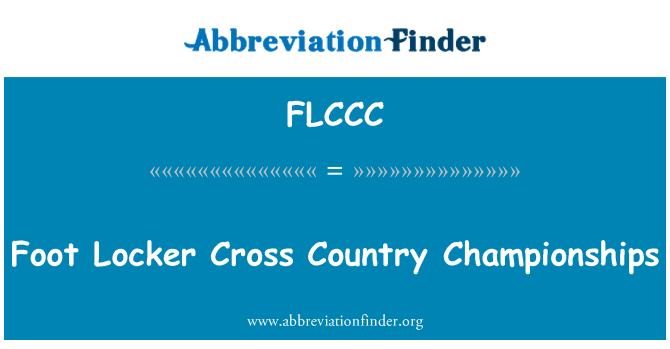 FLCCC: Foot Locker Cross Country Championships