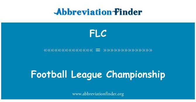 FLC: Football League Championship