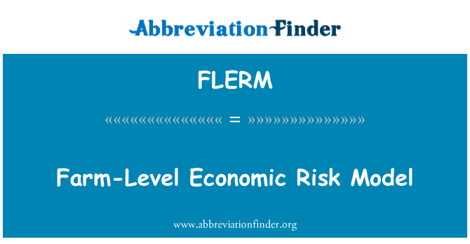 FLERM: Farm-Level Economic Risk Model