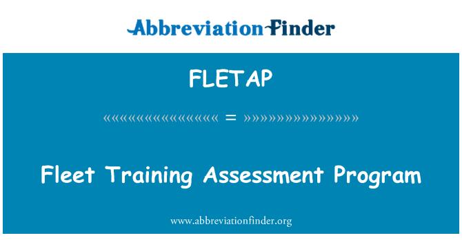 FLETAP: Fleet Training Assessment Program