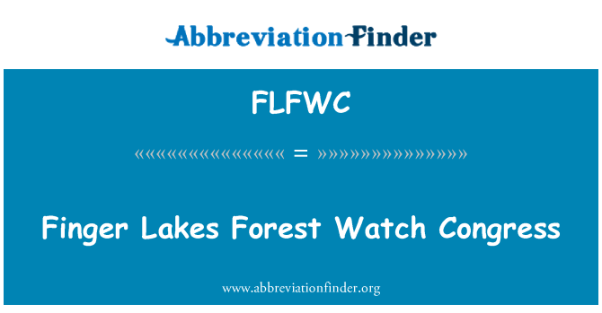 FLFWC: Finger Lakes Forest Watch Congress