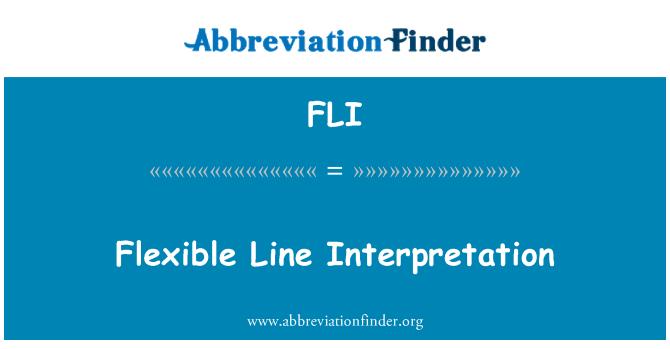 FLI: Flexible Line Interpretation