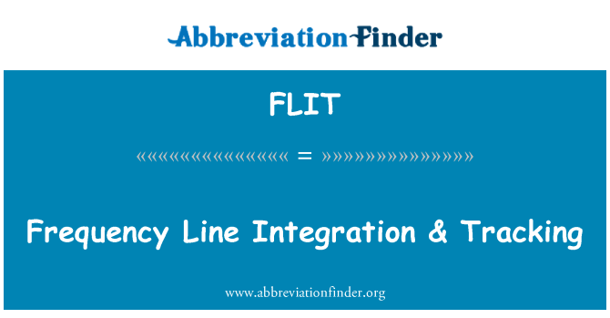 FLIT: Frequency Line Integration & Tracking