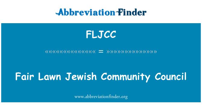 FLJCC: Fair Lawn Jewish Community Council