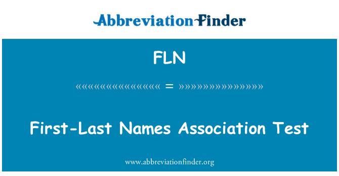 FLN: First-Last Names Association Test