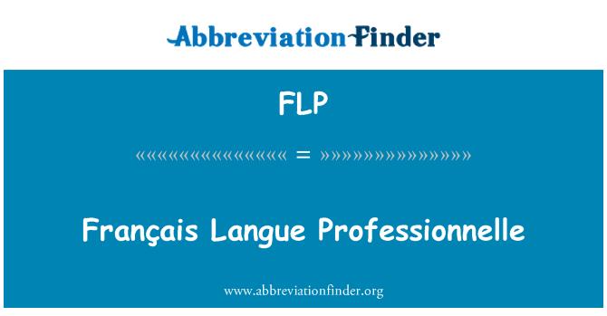 FLP: Français Langue Professionnelle