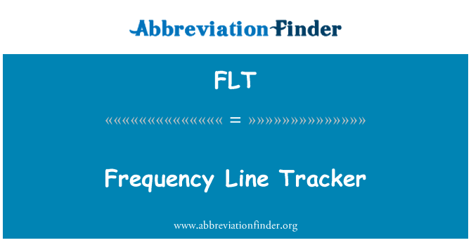 FLT: Frequency Line Tracker
