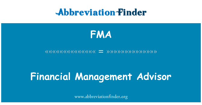 FMA: Financial Management Advisor