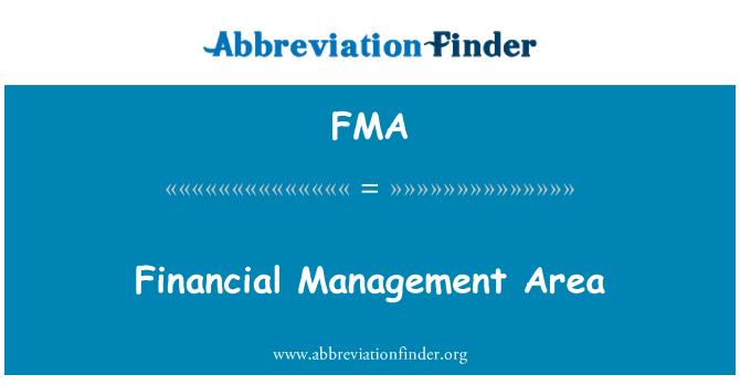 FMA: Financial Management Area
