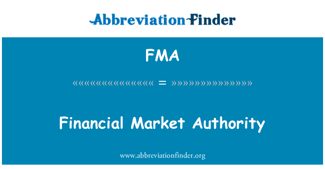 FMA: Financial Market Authority