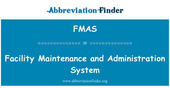 FMAS: Tesis bakım ve yönetim sistemi