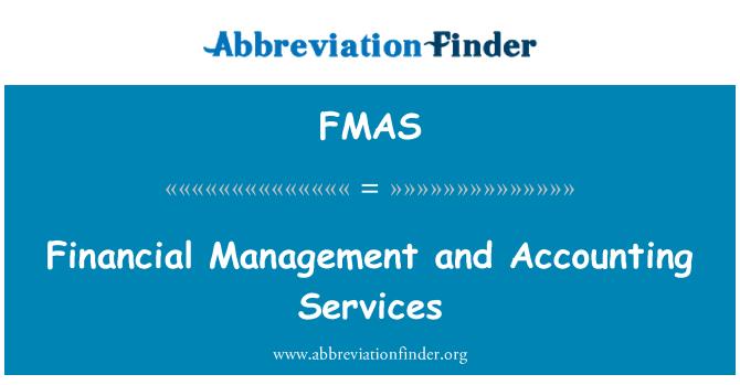 FMAS: Finansal Yönetim ve muhasebe hizmetleri