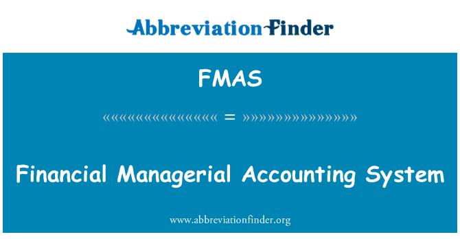 FMAS: Finantssüsteemi juhtimis arvestus