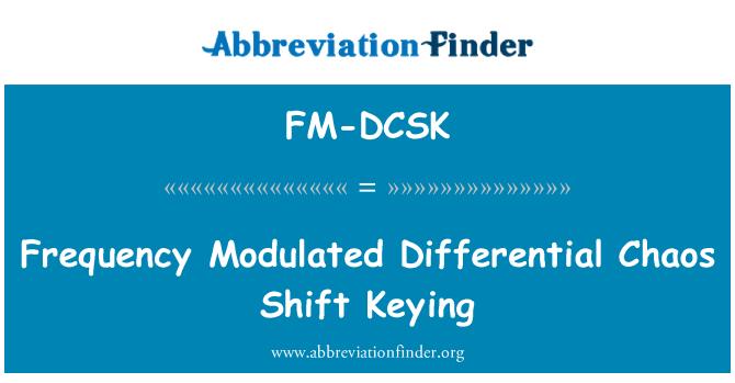 FM-DCSK: Frecuencia modulada caos diferencial cambio de clave