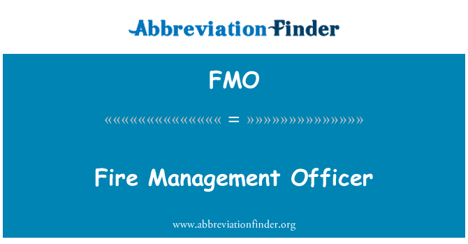 FMO: Fire Management Officer