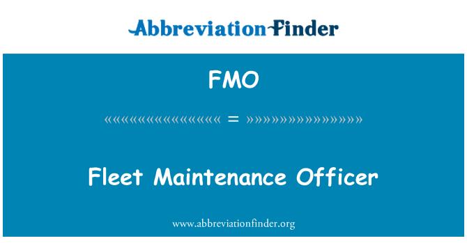 FMO: Fleet Maintenance Officer