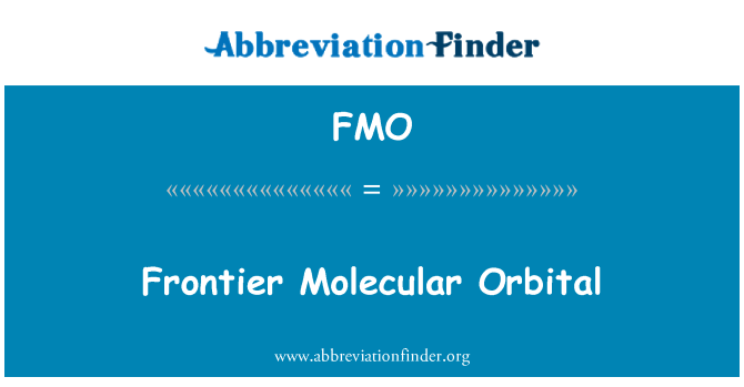 FMO: Frontier Molecular Orbital