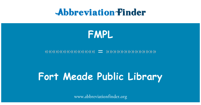 FMPL: Fort Meade Public Library