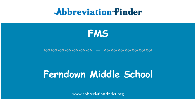 FMS: Ferndown Middle School