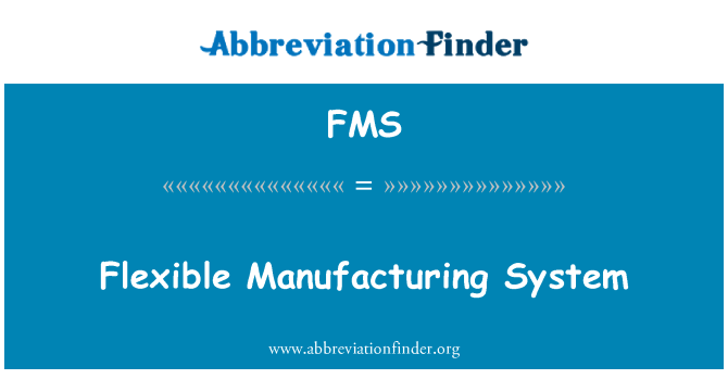 FMS: Flexible Manufacturing System