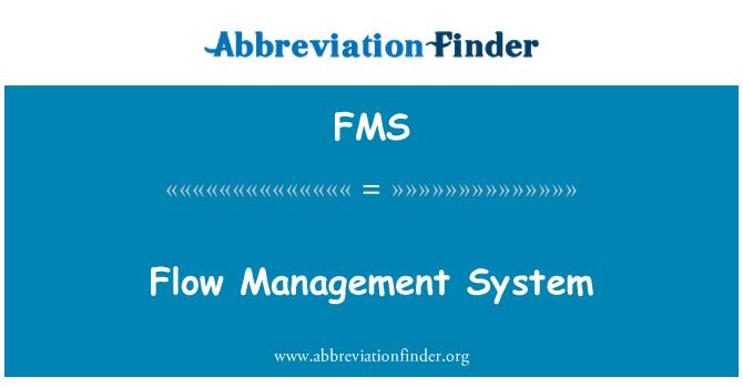 FMS: Flow Management System