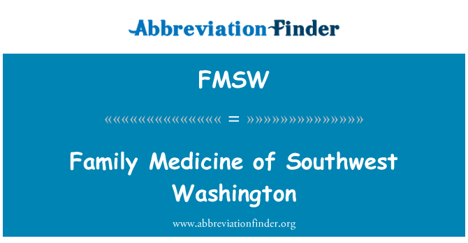 FMSW: Family Medicine of Southwest Washington