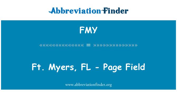 FMY: Ft. Myers, FL - Page Field