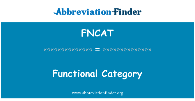 FNCAT: Functional Category
