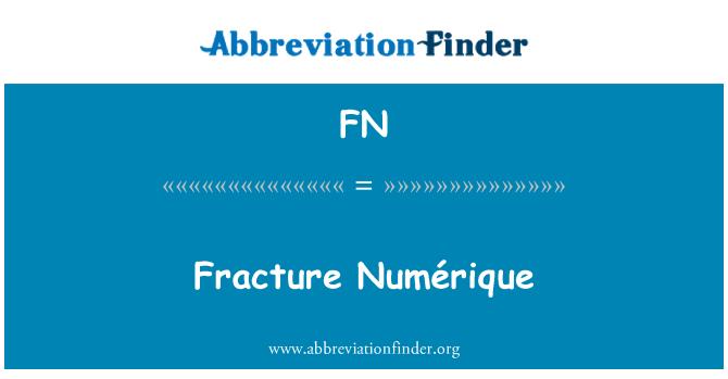 FN: Fracture Numérique