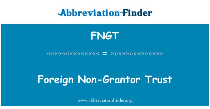 FNGT: Foreign Non-Grantor Trust